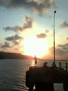 Memancing di Pelabuhan Cilacap